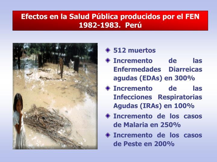Efectos en la Salud Pública producidos por el FEN 1982-1983.  Perú