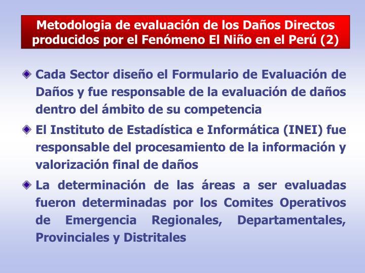 Metodologia de evaluación de los Daños Directos producidos por el Fenómeno El Niño en el Perú (2)