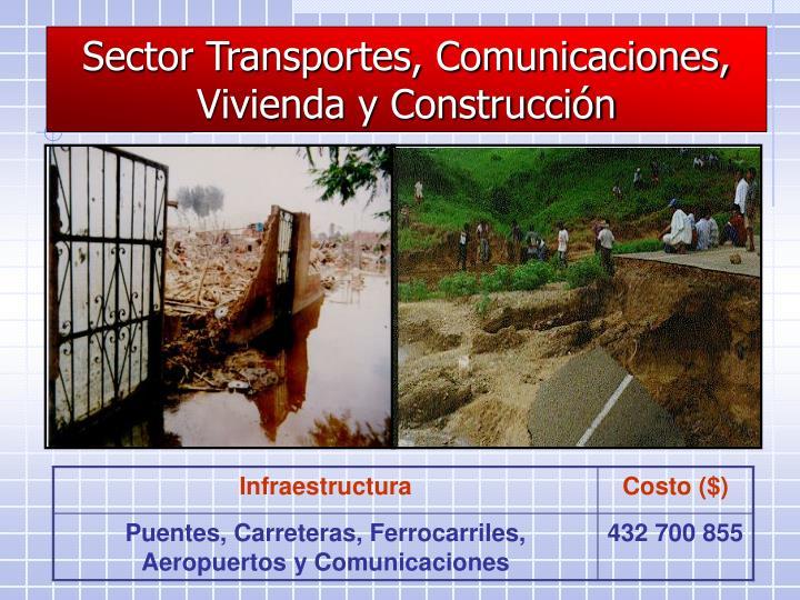 Sector Transportes, Comunicaciones, Vivienda y Construcción