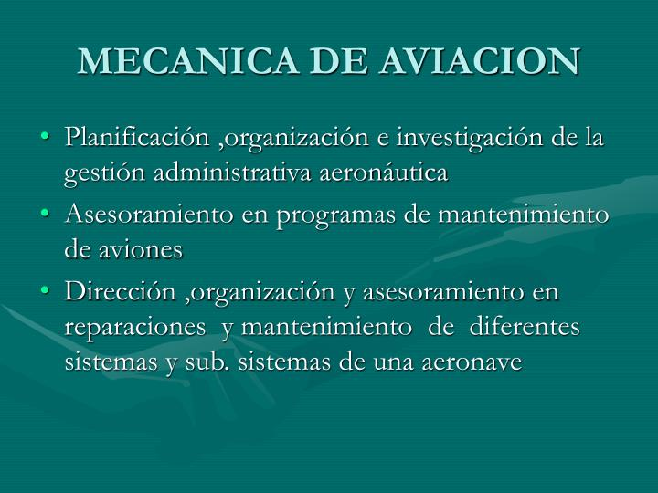 MECANICA DE AVIACION