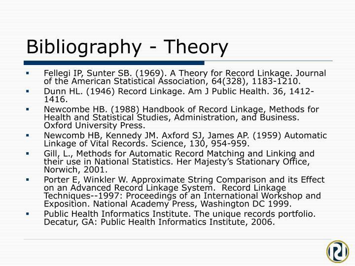 Bibliography - Theory