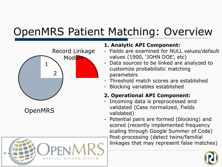 OpenMRS Patient Matching: Overview