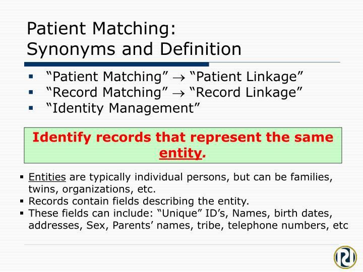 Patient Matching: