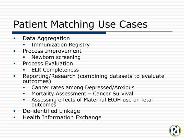Patient Matching Use Cases