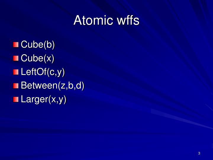 Atomic wffs
