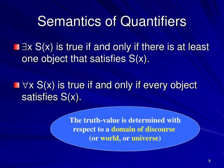Semantics of Quantifiers