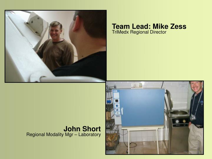 Team Lead: Mike Zess