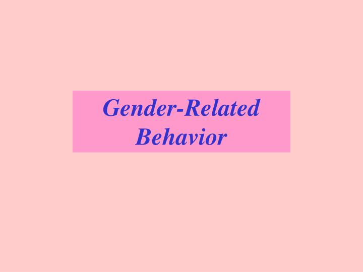 Gender-Related