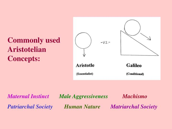 Commonly used Aristotelian Concepts: