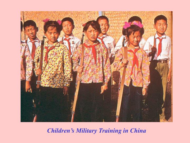 Children's Military Training in China