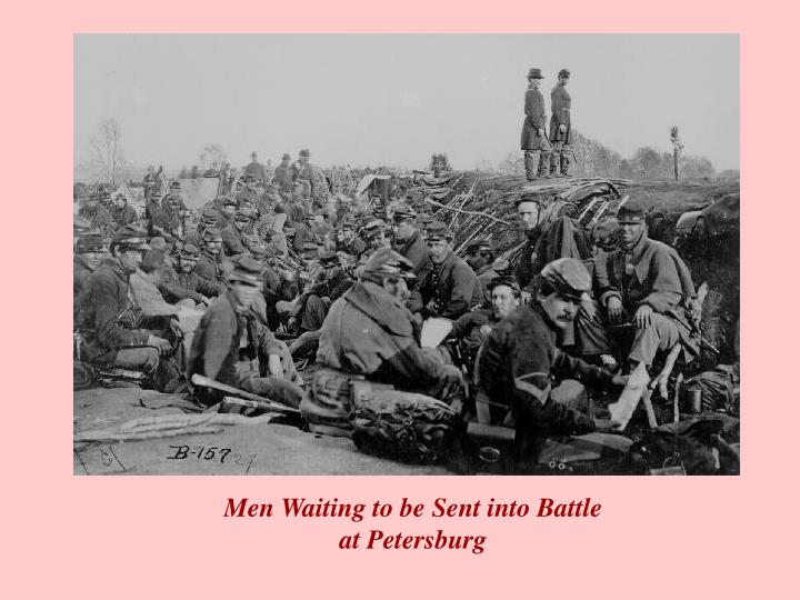 Men Waiting to be Sent into Battle