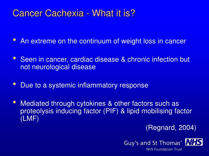 An extreme on the continuum of weight loss in cancer