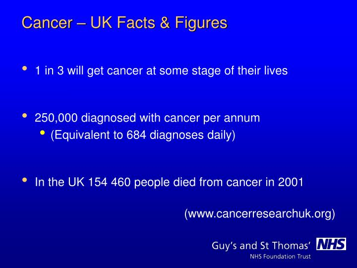 1 in 3 will get cancer at some stage of their lives