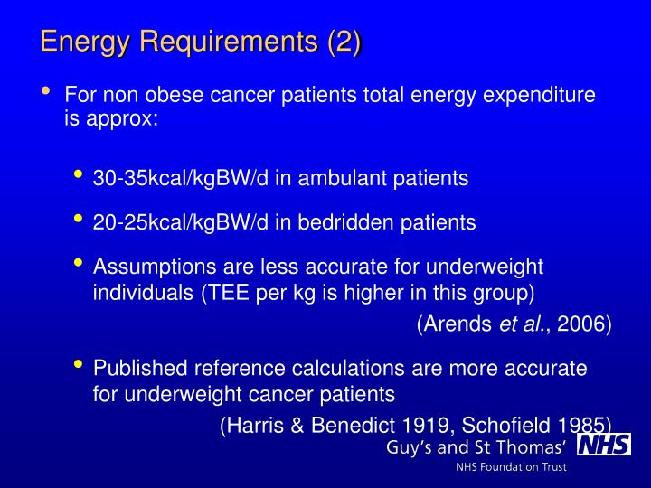 For non obese cancer patients total energy expenditure is approx: