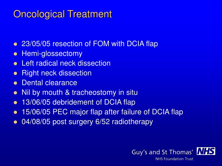 23/05/05 resection of FOM with DCIA flap