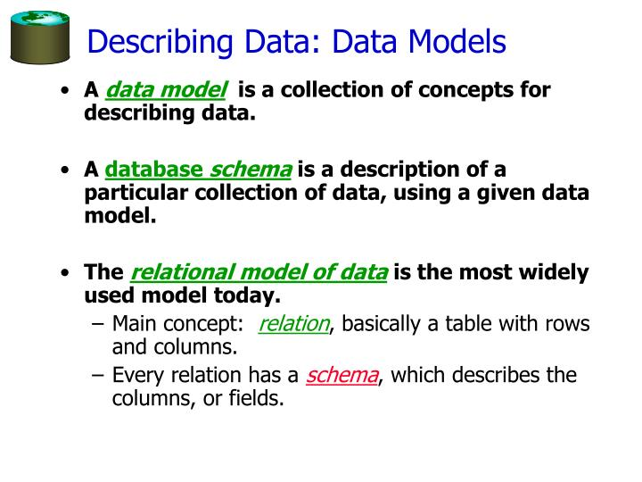 Describing Data: Data Models