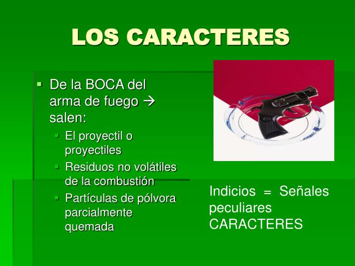 LOS CARACTERES