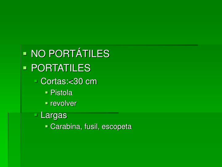 NO PORTÁTILES