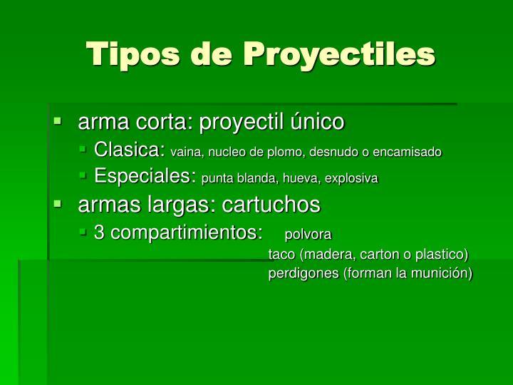 Tipos de Proyectiles