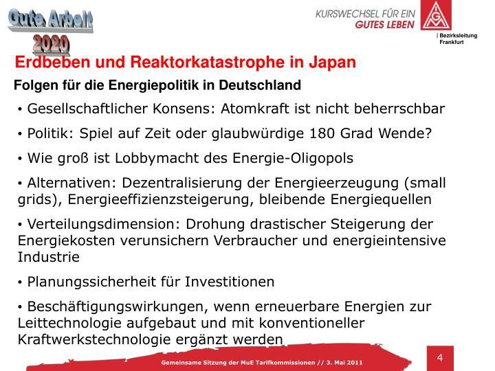 Erdbeben und Reaktorkatastrophe in Japan