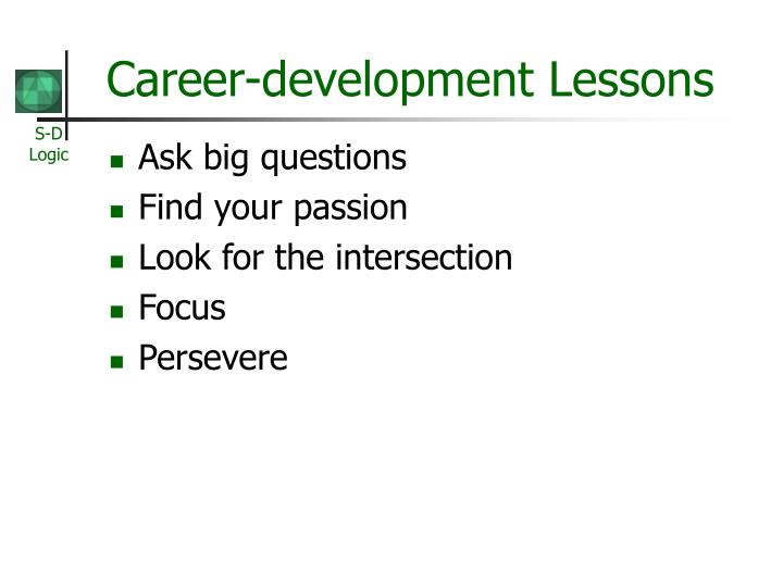 Career-development Lessons