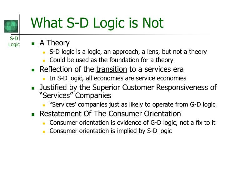 What S-D Logic is Not