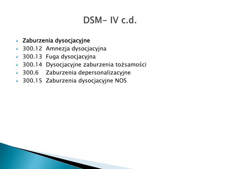 DSM- IV c.d.