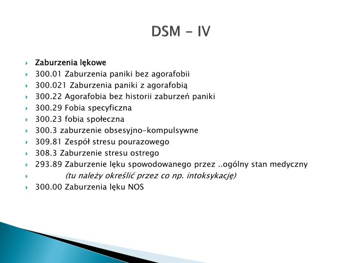 DSM - IV