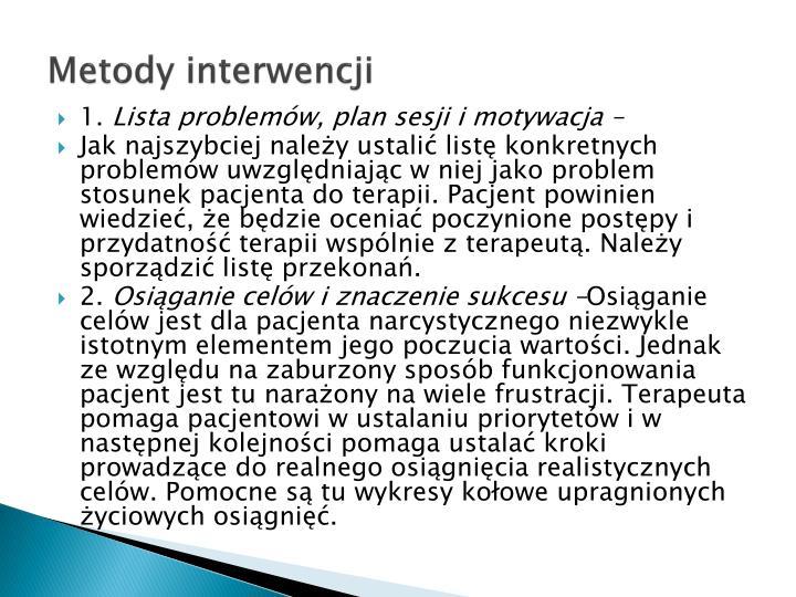 Metody interwencji