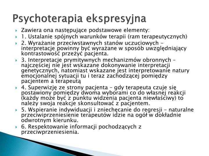 Psychoterapia ekspresyjna