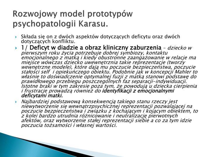 Rozwojowy model prototypw psychopatologii