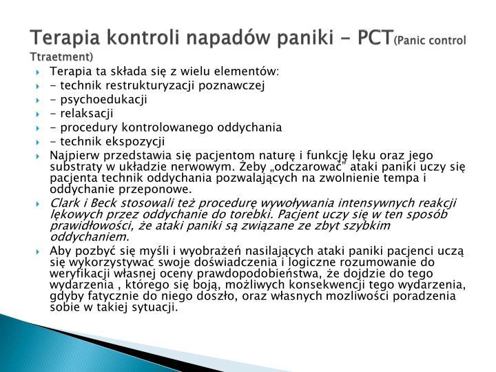 Terapia kontroli napadów paniki - PCT