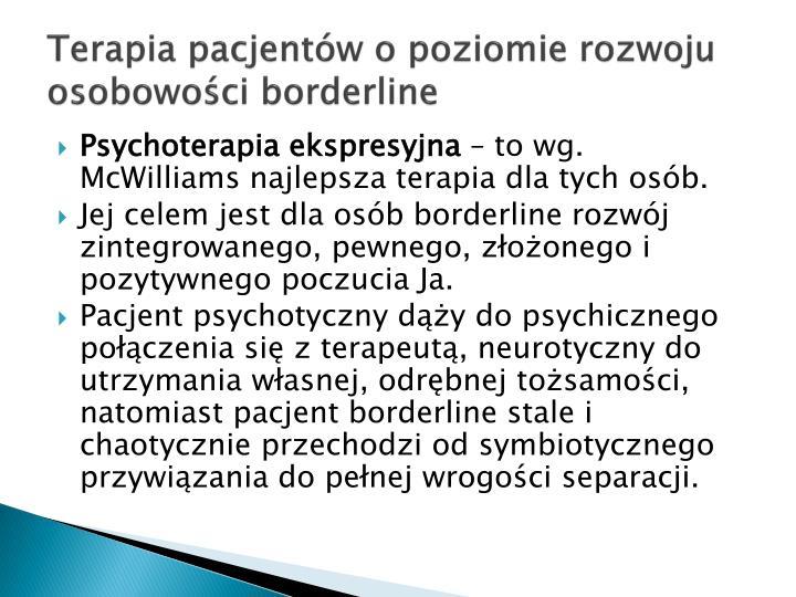 Terapia pacjentów o poziomie rozwoju osobowości