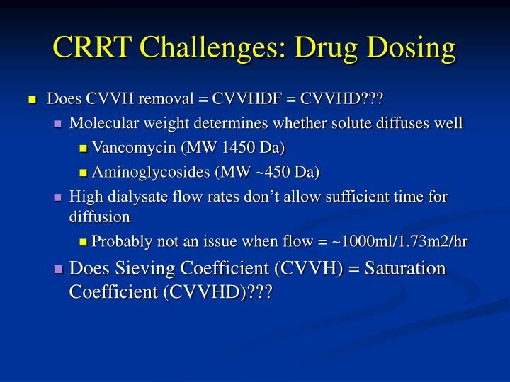 CRRT Challenges: Drug Dosing