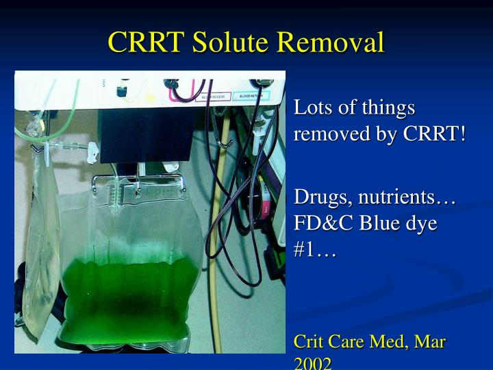 CRRT Solute Removal