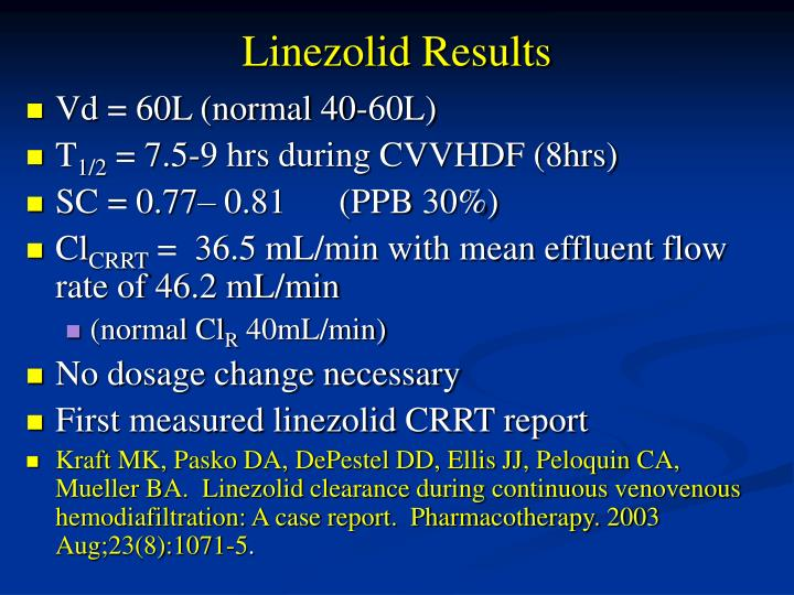 Linezolid Results