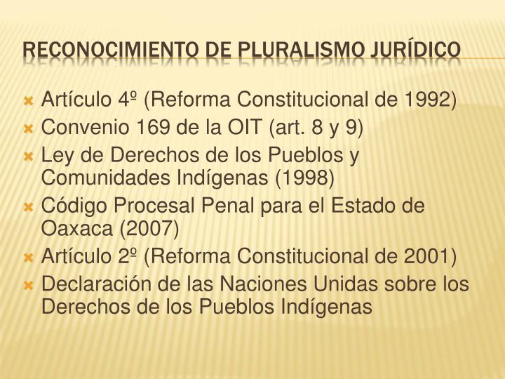 Artículo 4º (Reforma Constitucional de 1992)
