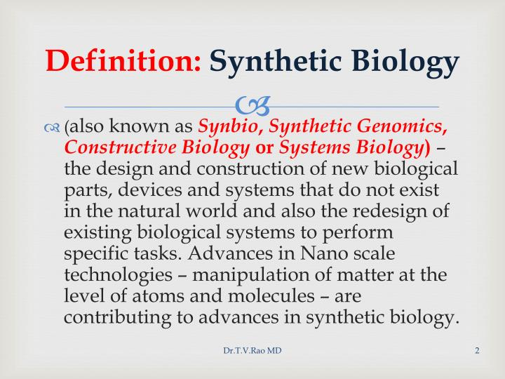 Definition synthetic biology l.jpg