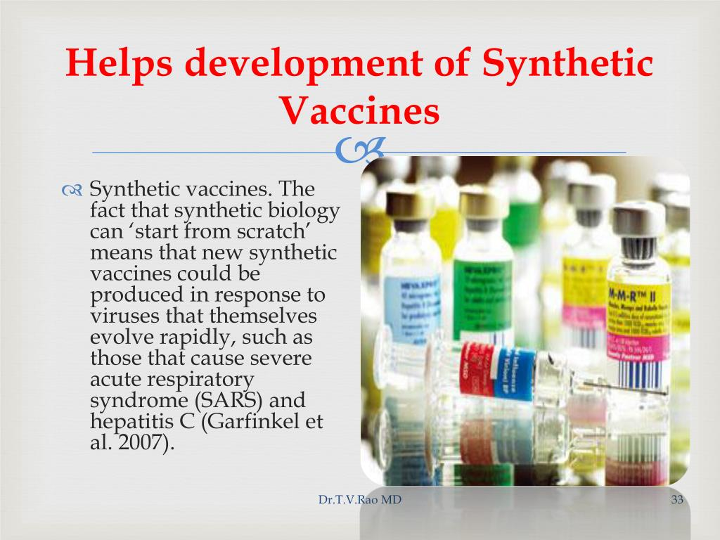 Helps development of Synthetic