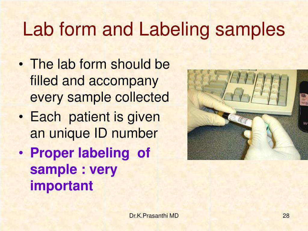 Lab form and Labeling samples