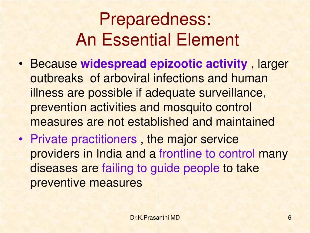 Preparedness: