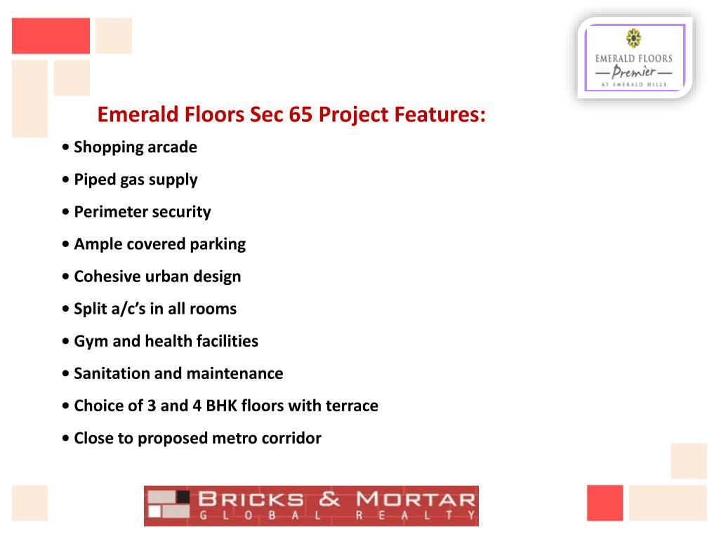 Emerald Floors Sec 65 Project Features: