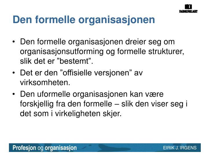 Den formelle organisasjonen