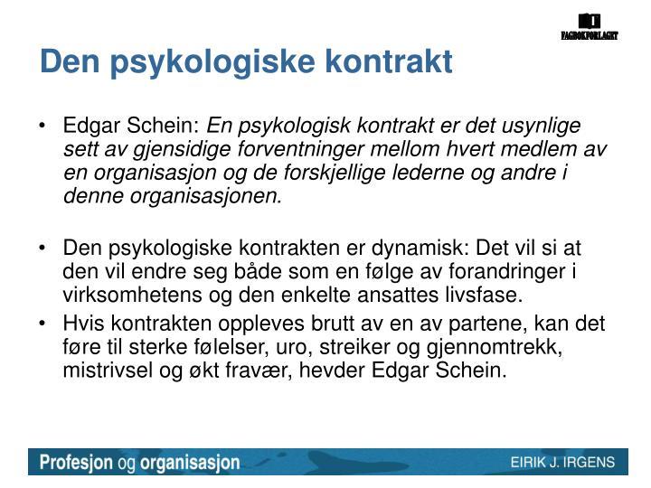 Den psykologiske kontrakt