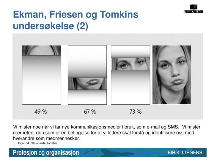 Ekman, Friesen og Tomkins undersøkelse (2)