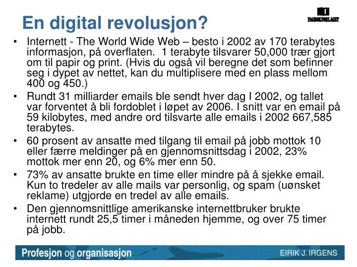 En digital revolusjon?