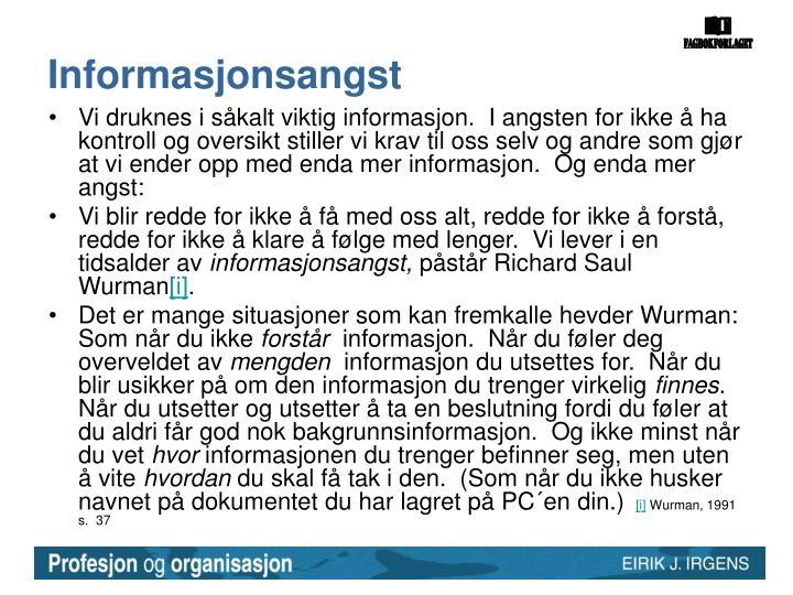 Informasjonsangst