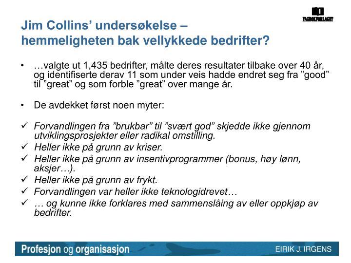 Jim Collins' undersøkelse –