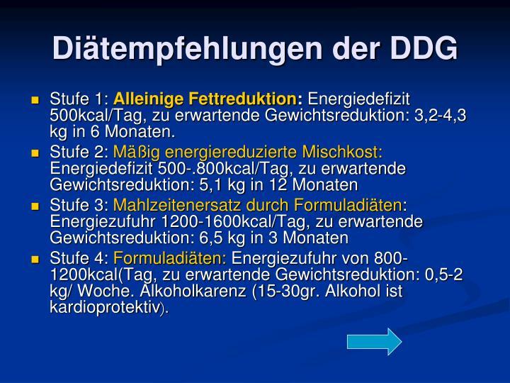 Diätempfehlungen der DDG