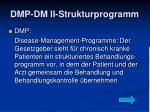 dmp dm ii strukturprogramm